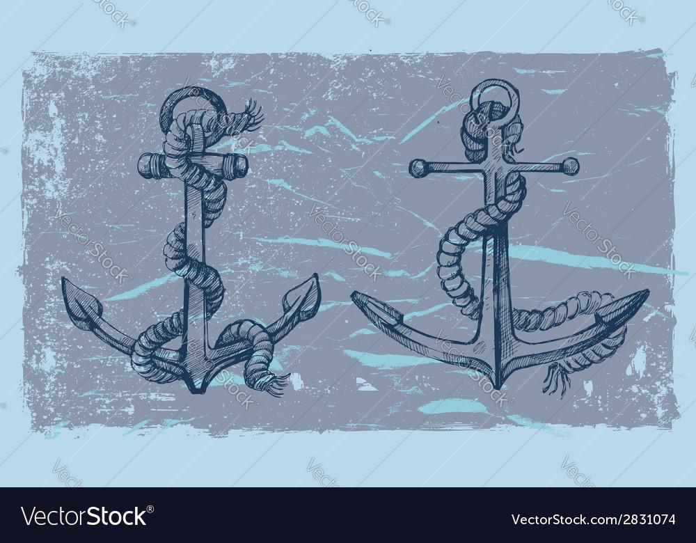 Hand drawn anchor