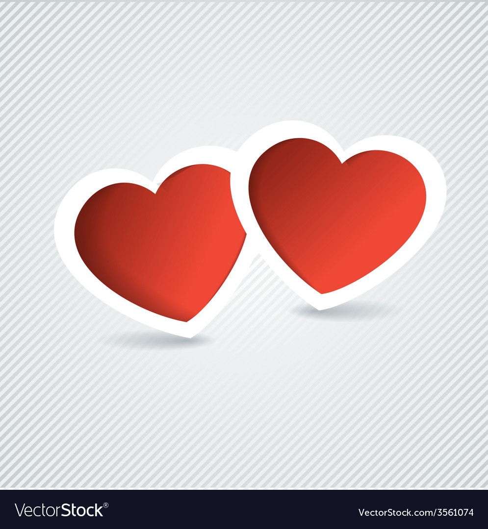 Holiday Card Heart from paper Valentines day Look vector image