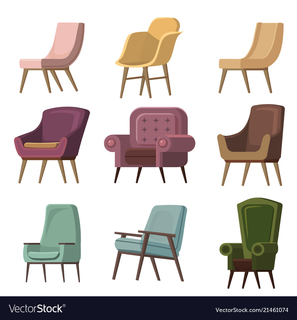 Set of chair to use in animation
