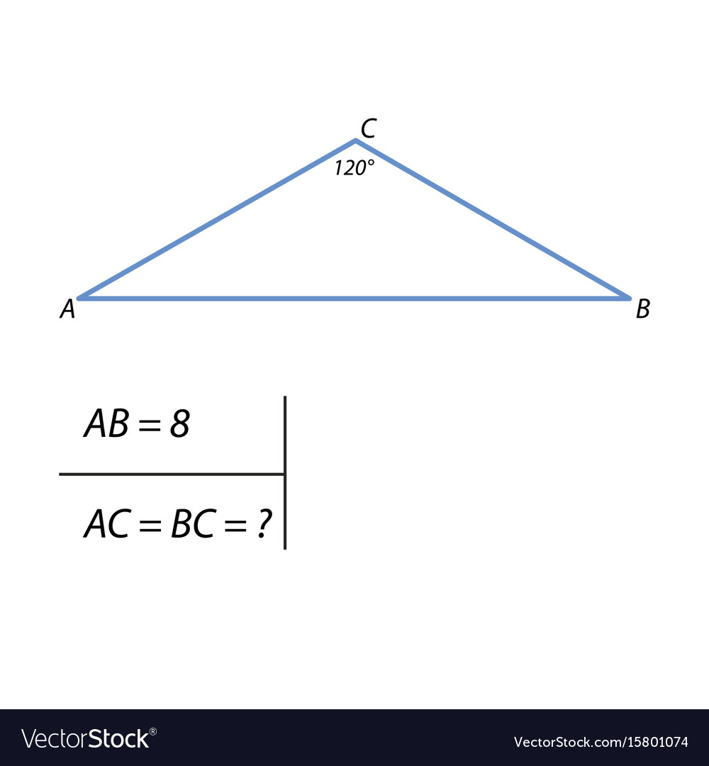 The task of finding the side of a right triangle