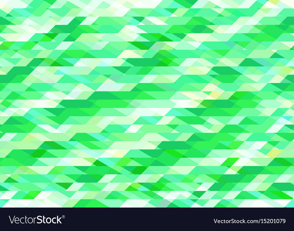Bright shades of green geometric pattern vector image