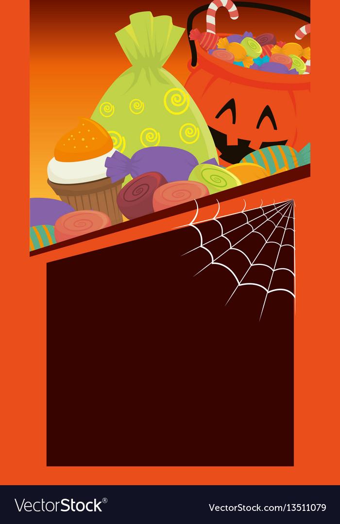 Halloween card party invitation