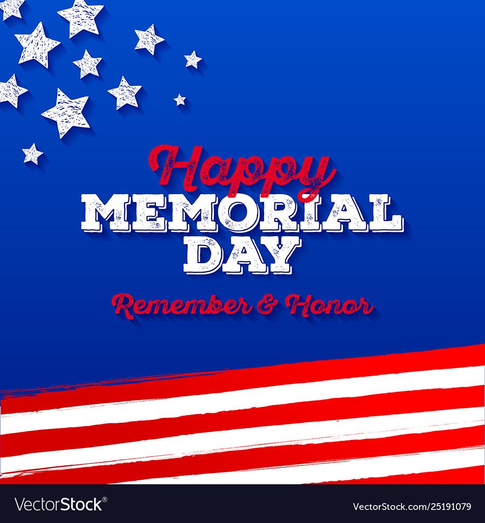 Memorial day - greeting card design