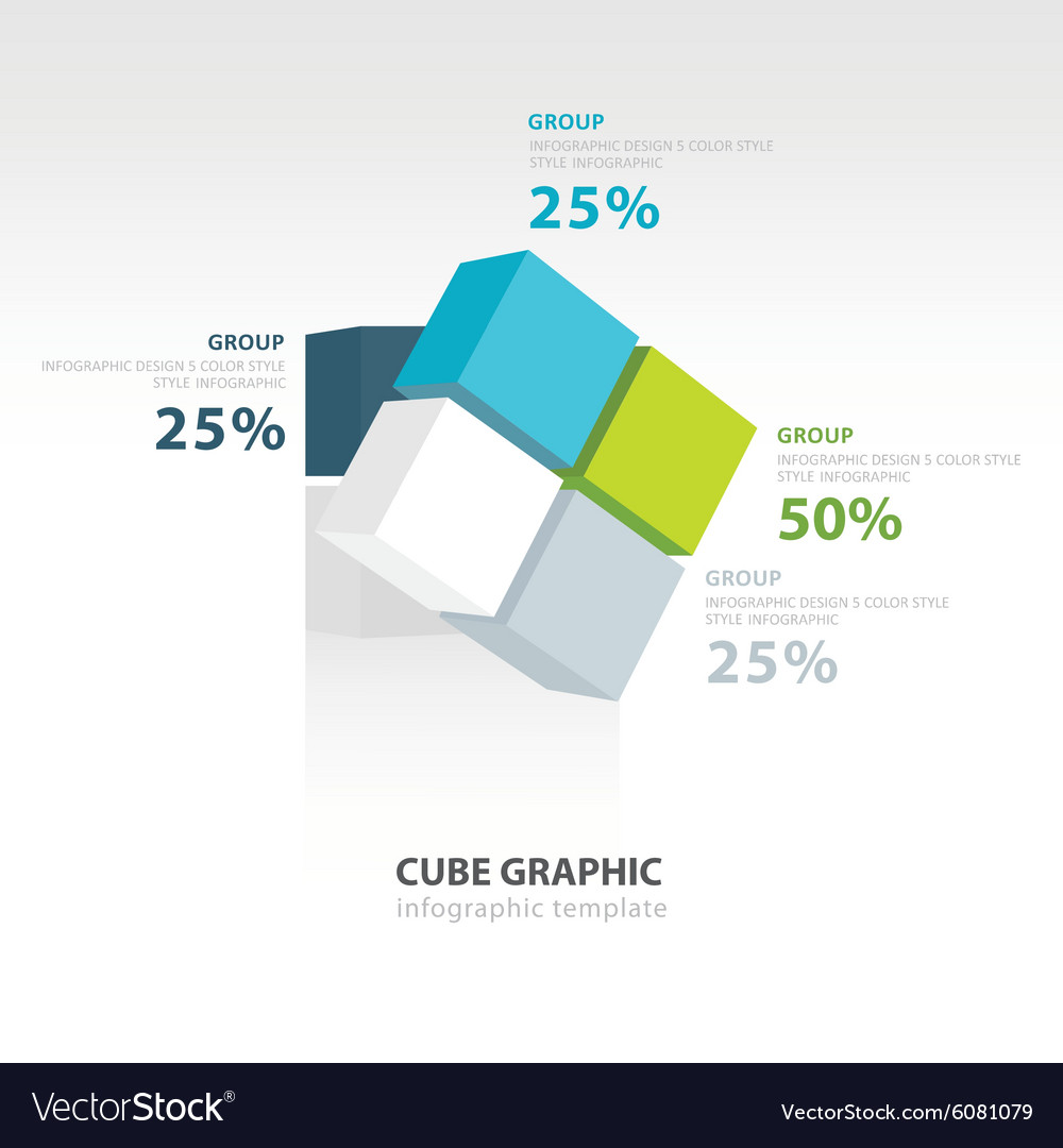Rotate Cube Infographic Template Royalty Free Vector Image Diagram