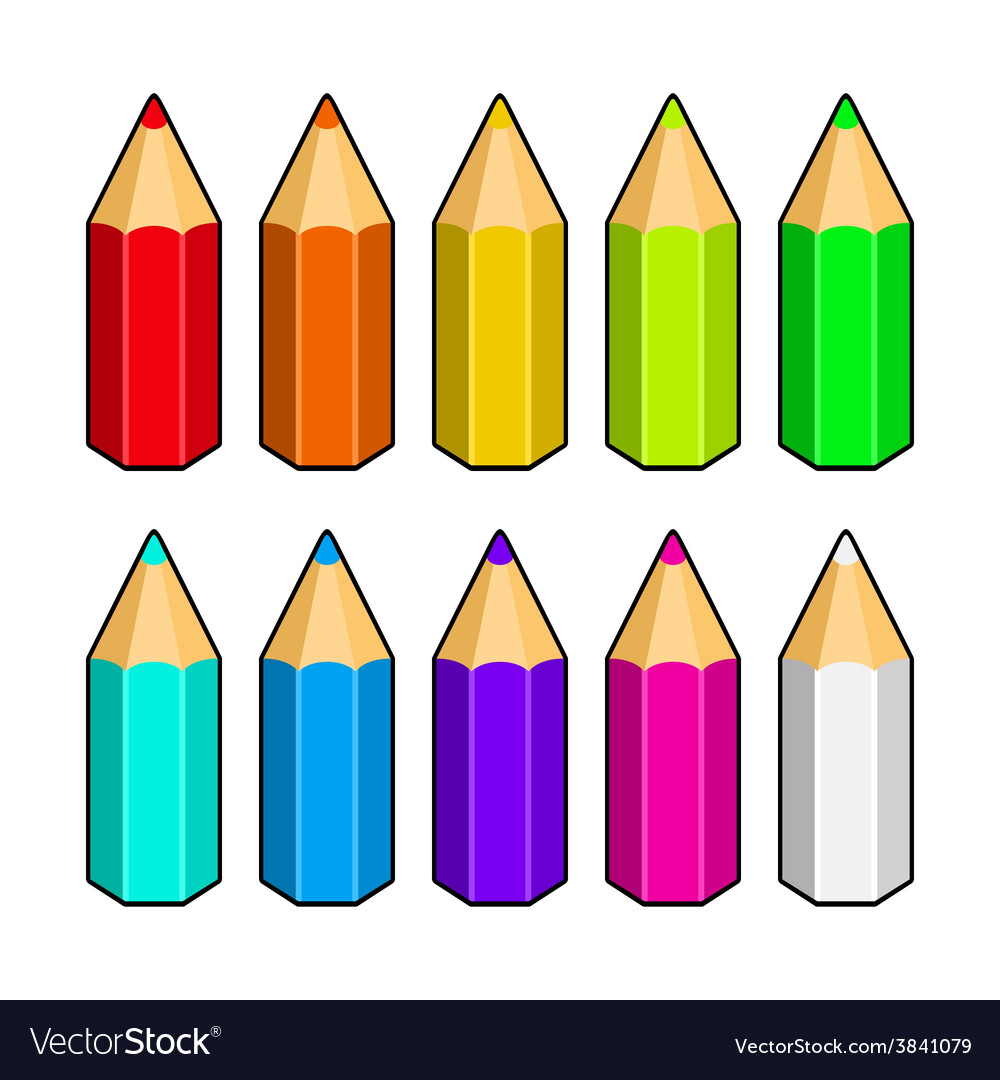 Set of Colored Pencils vector image