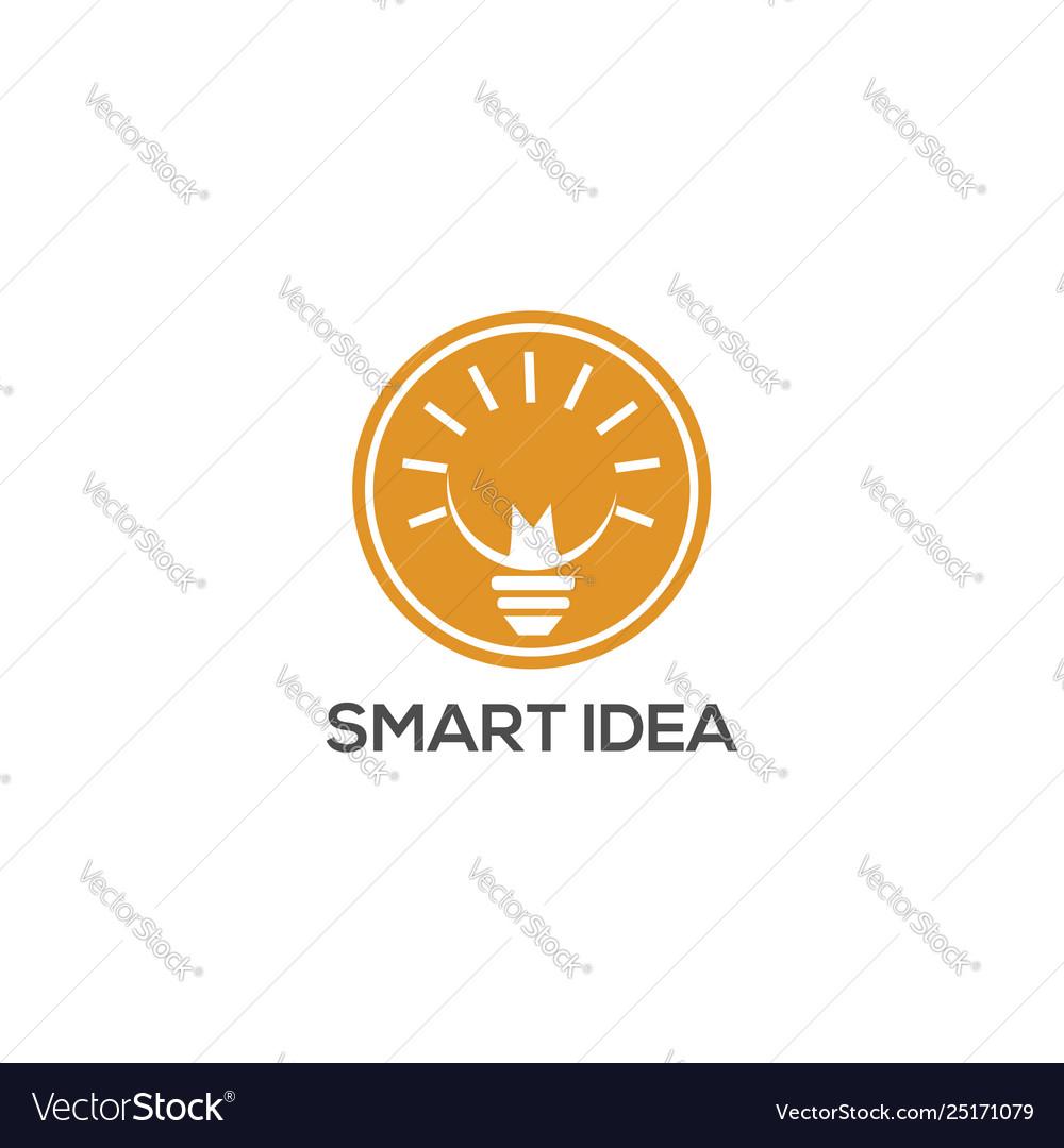 Smart idea lamp logo