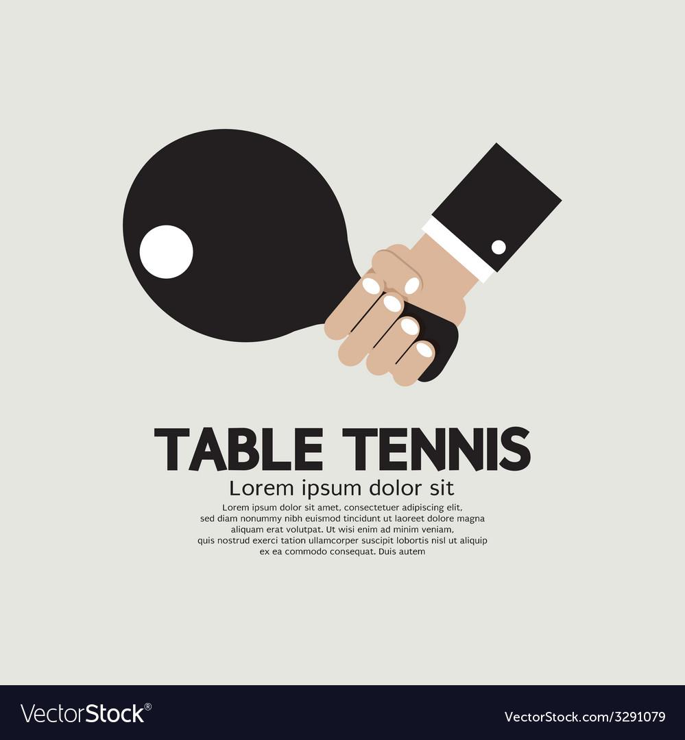 Table Tennis Indoor Sport vector image