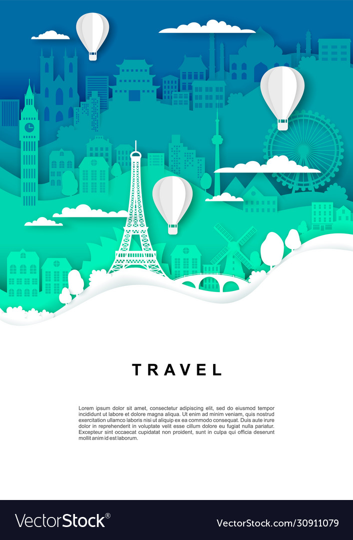 Travel poster banner template