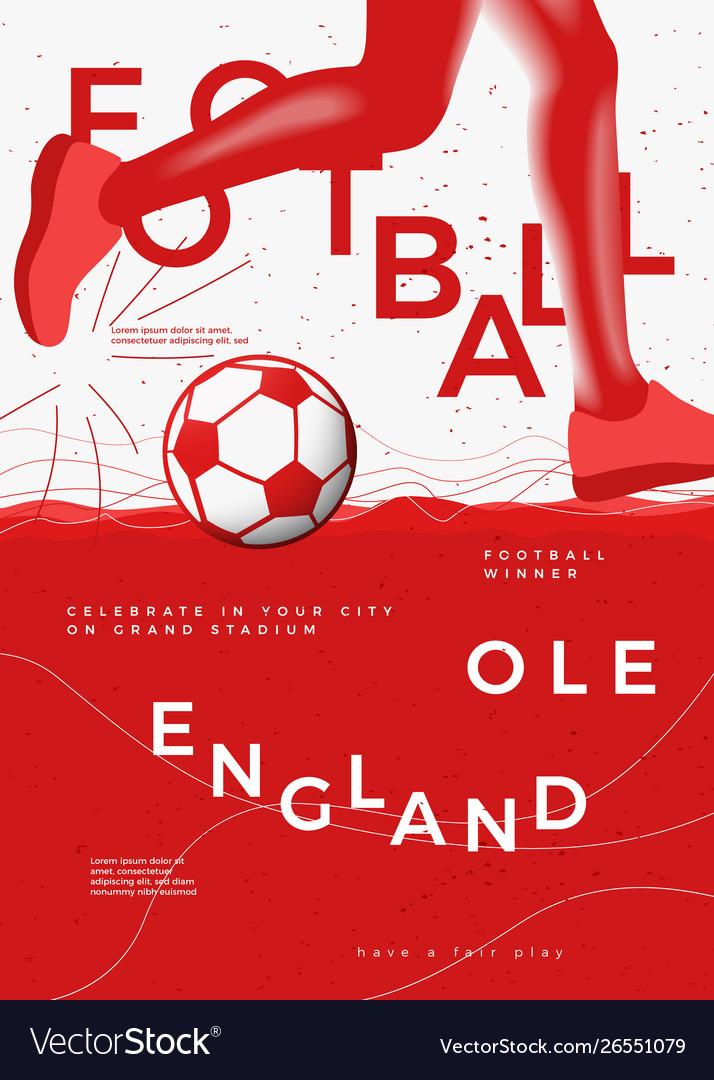 Typographic england winner football poster