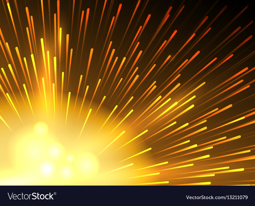 Yellow star lighted exploding background