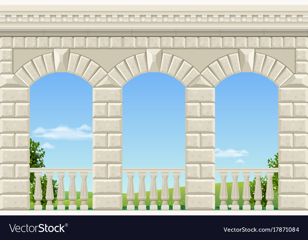 Classic arch of the palace