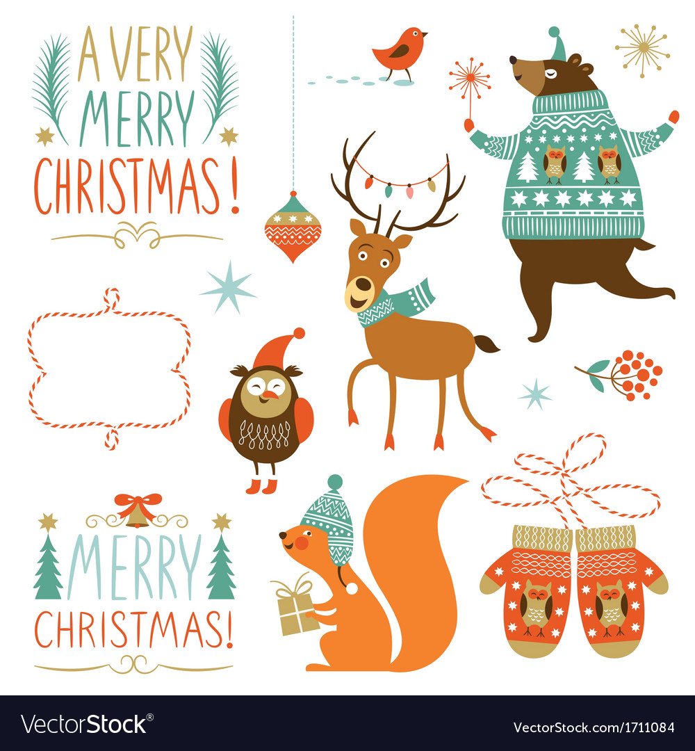 Collection of Christmas graphic elements