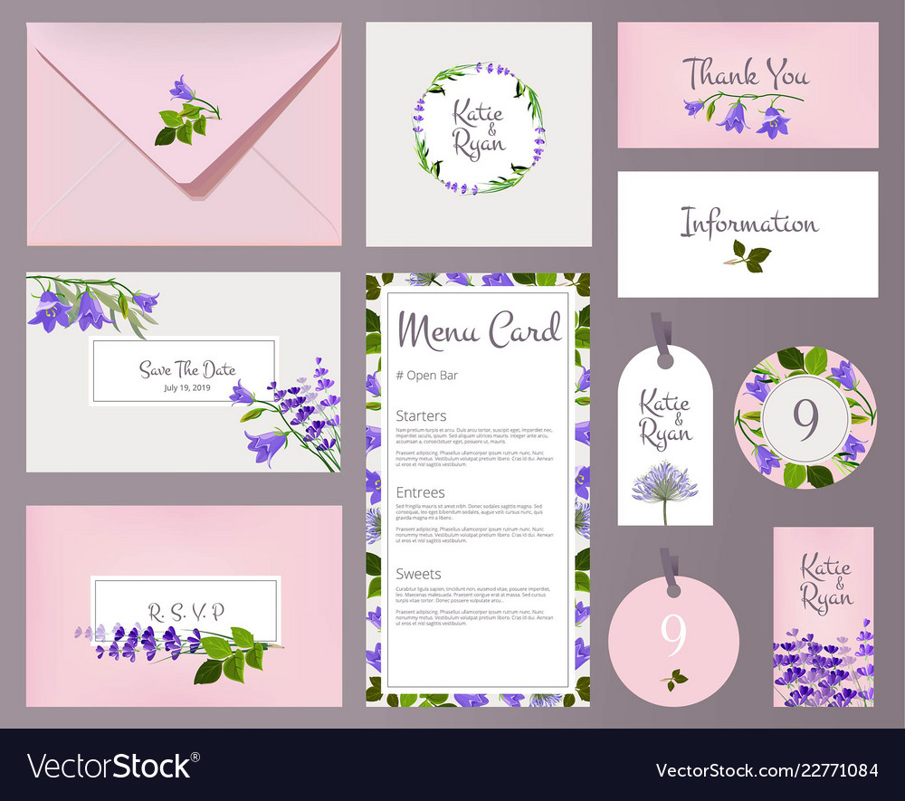 Florals wedding cards invited placards floral