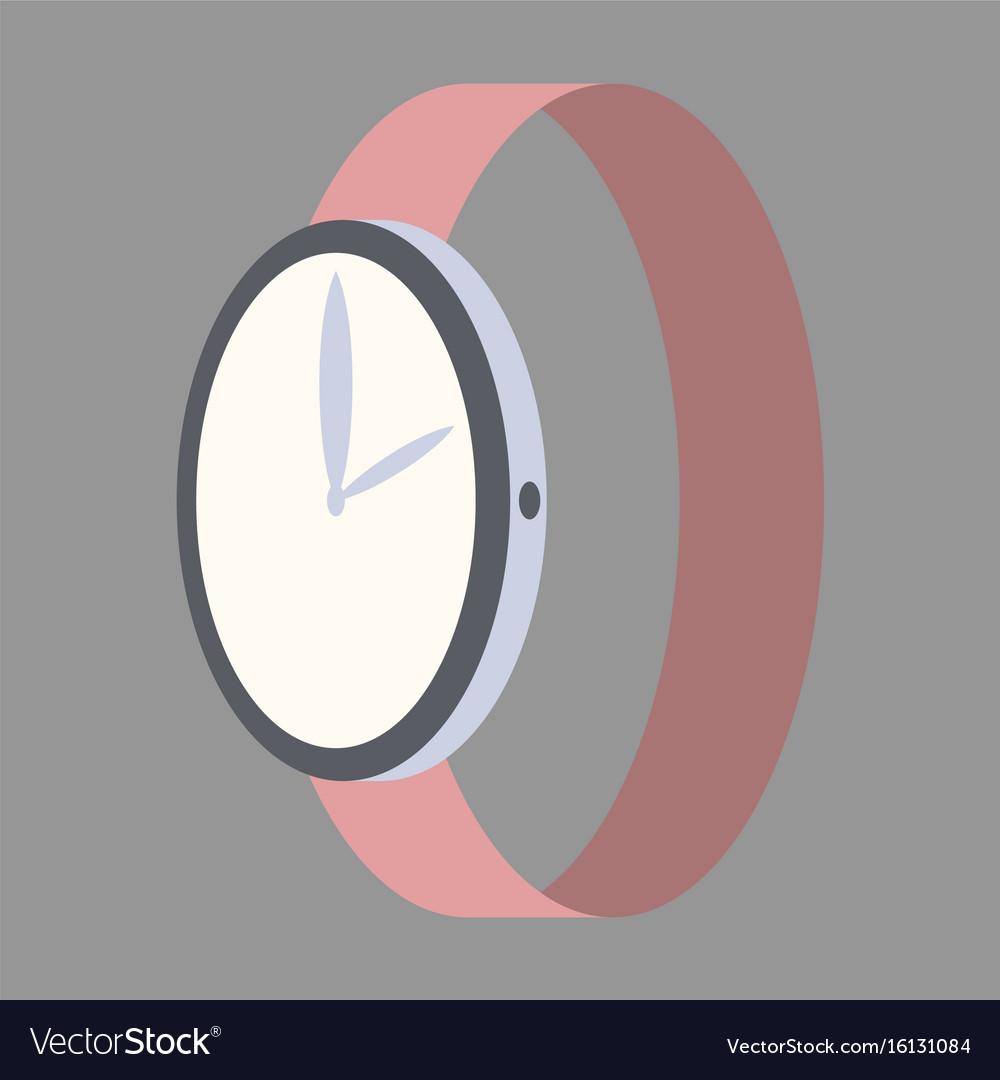 Icon in flat design fashion wrist watch vector image