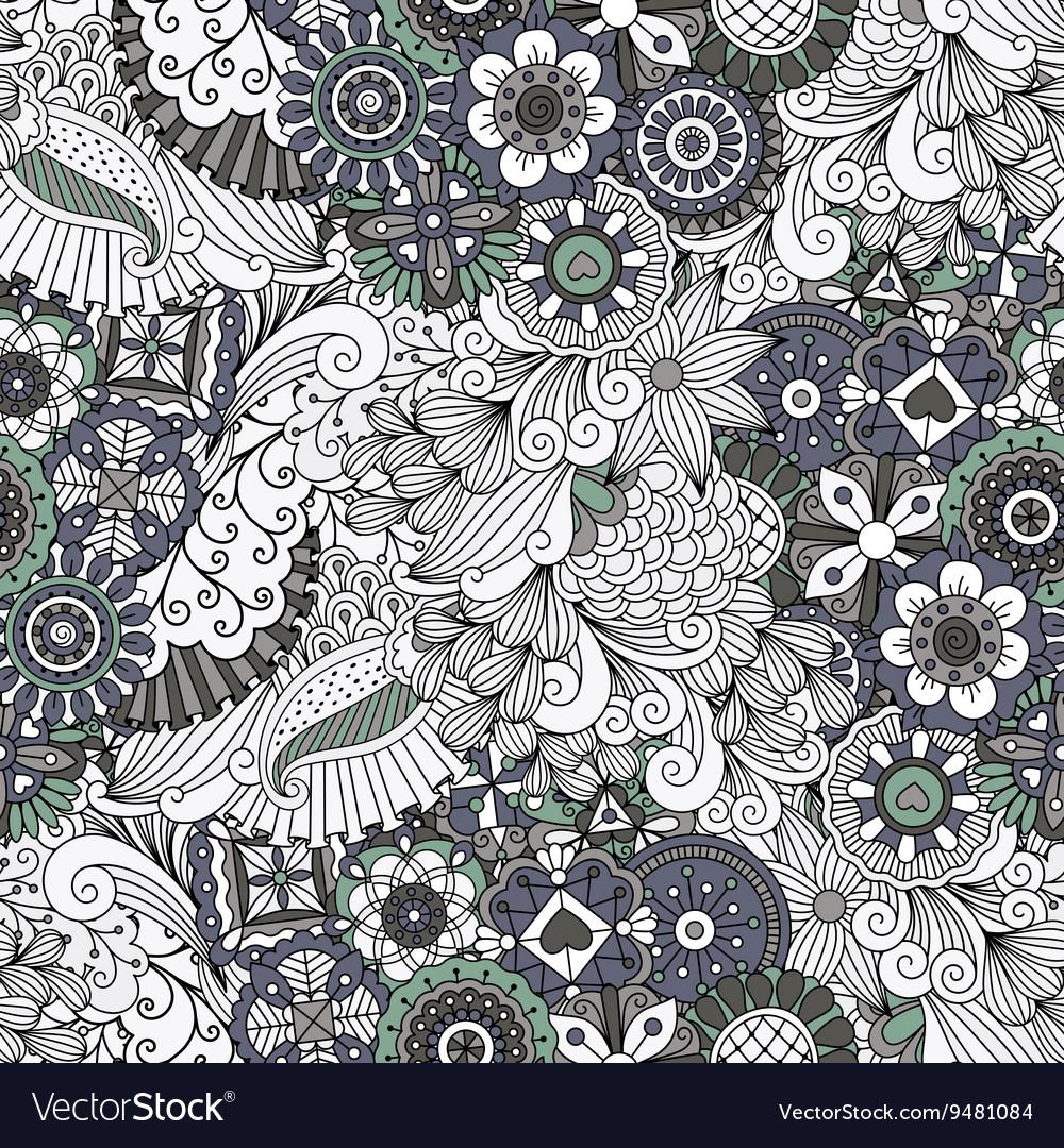 Lovely symmetrical full frame background on white vector image