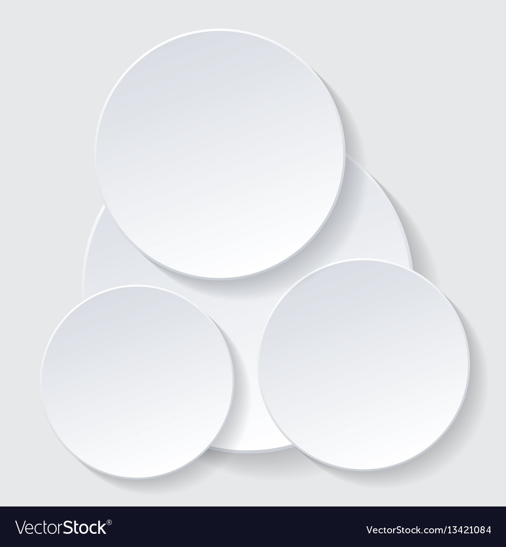 Paper circle infographic