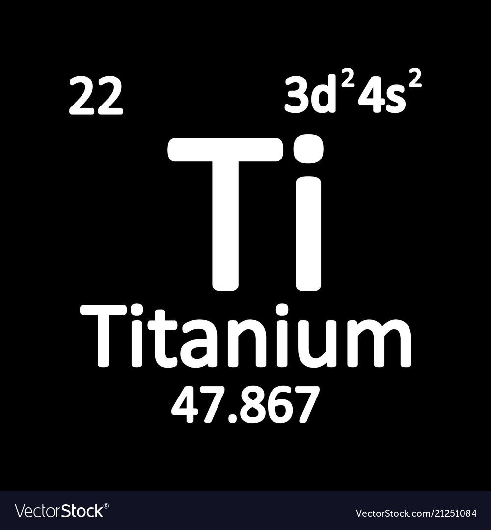 Periodic Table Element Titanium Icon Royalty Free Vector