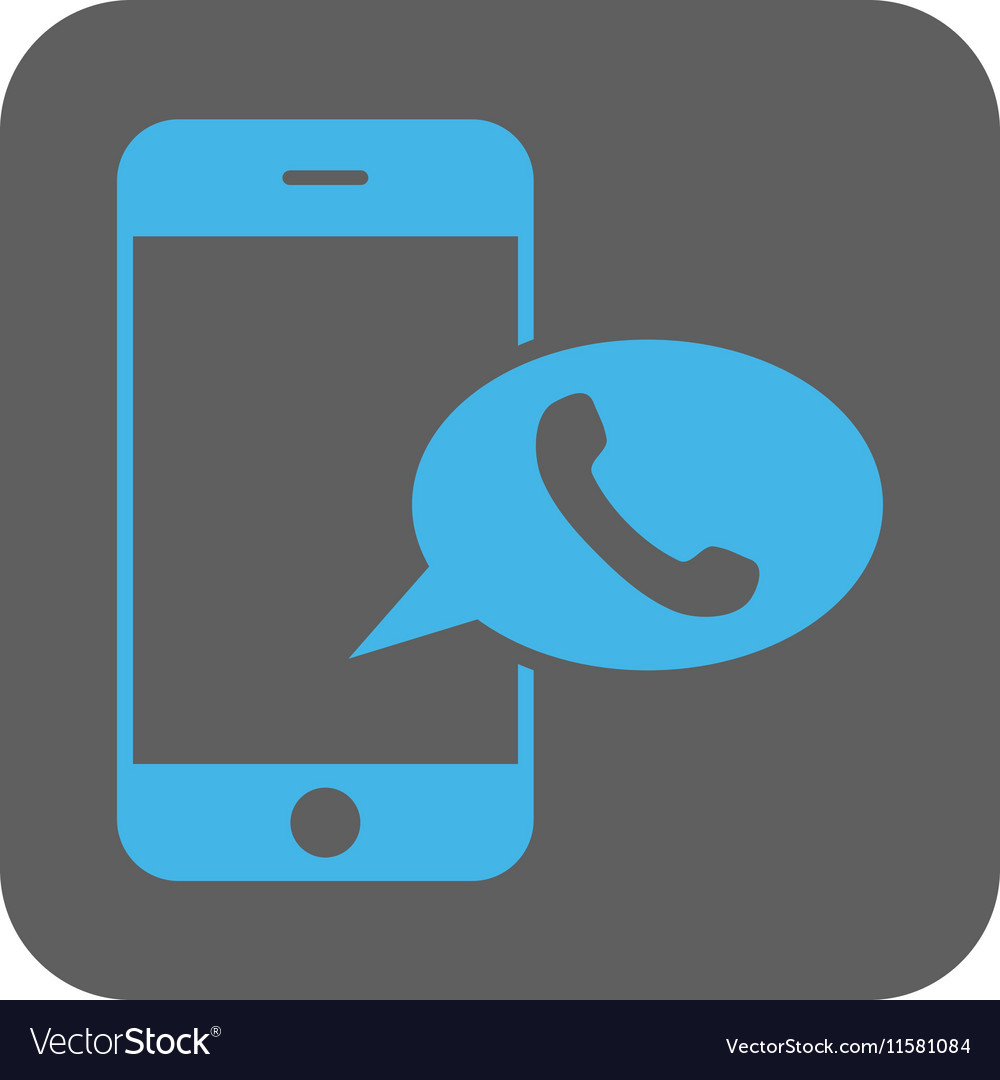 Smartphone Call Balloon Rounded Square Icon