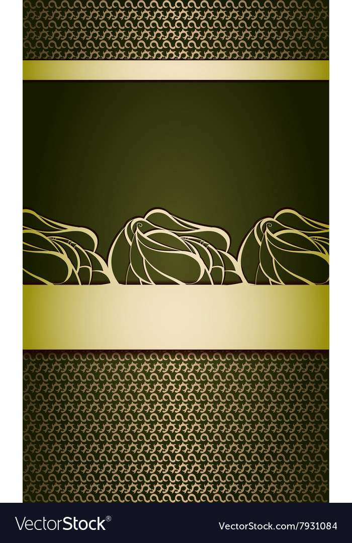 Vintage golden background vector image