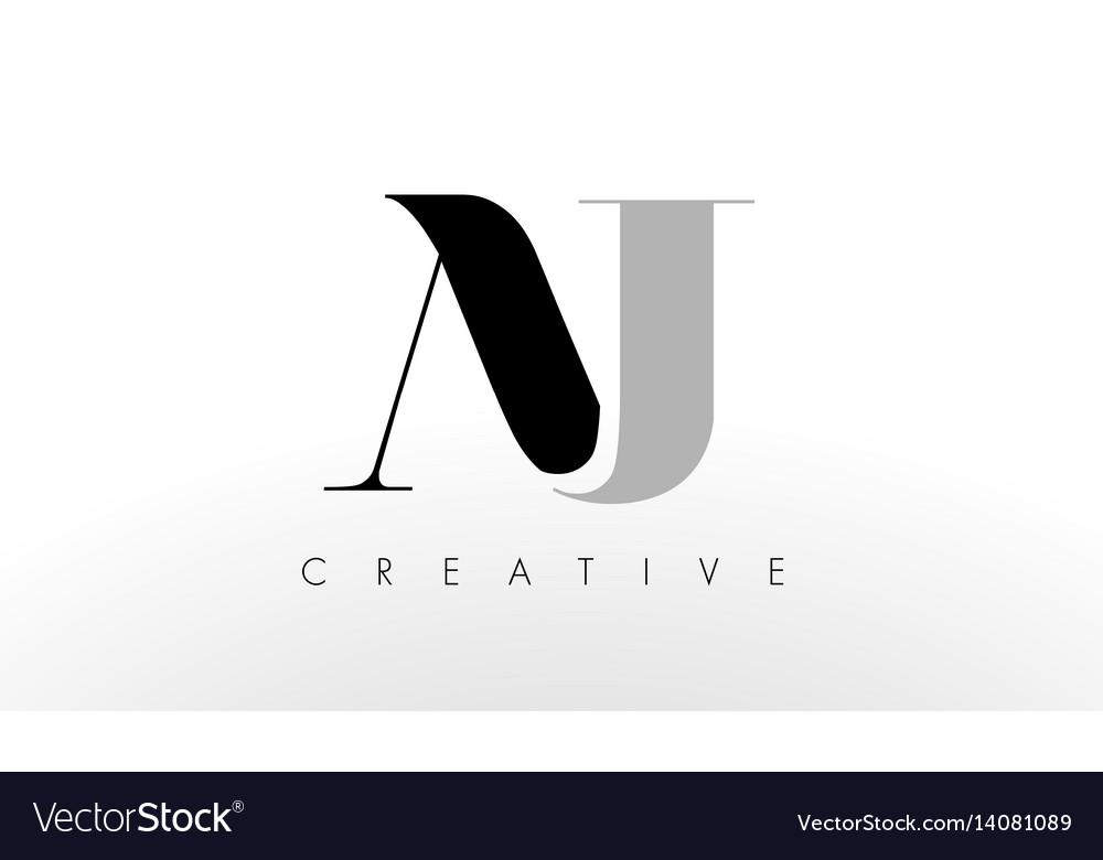 A j letter logo design creative aj letters icon