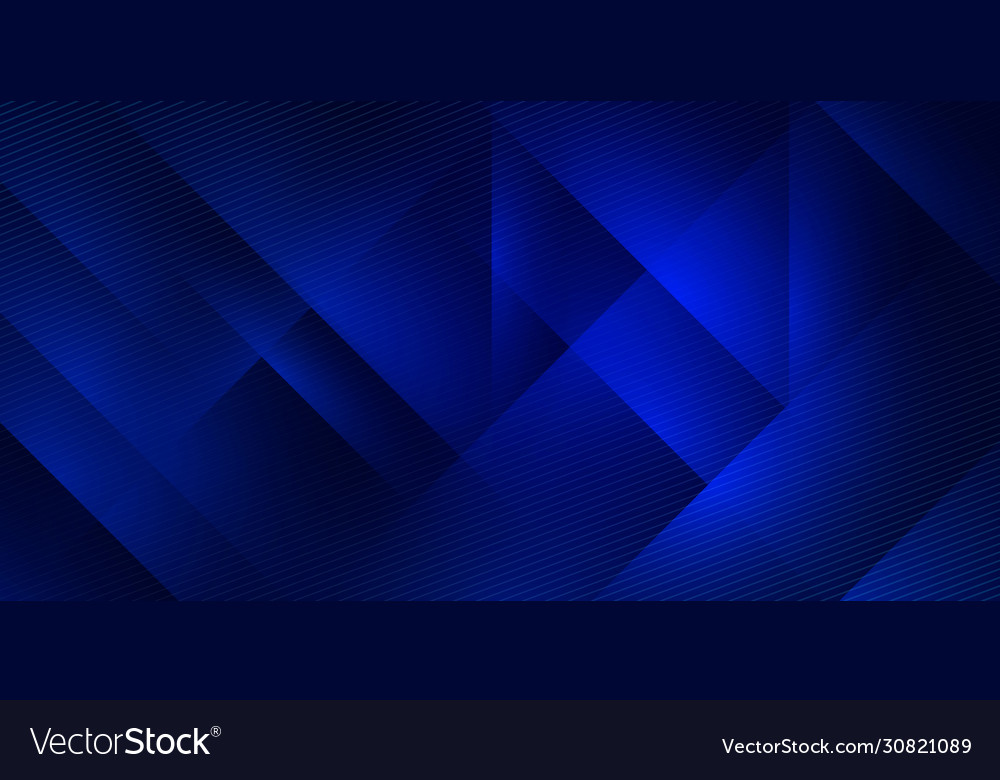 Blue abstract gradient horizontal banner
