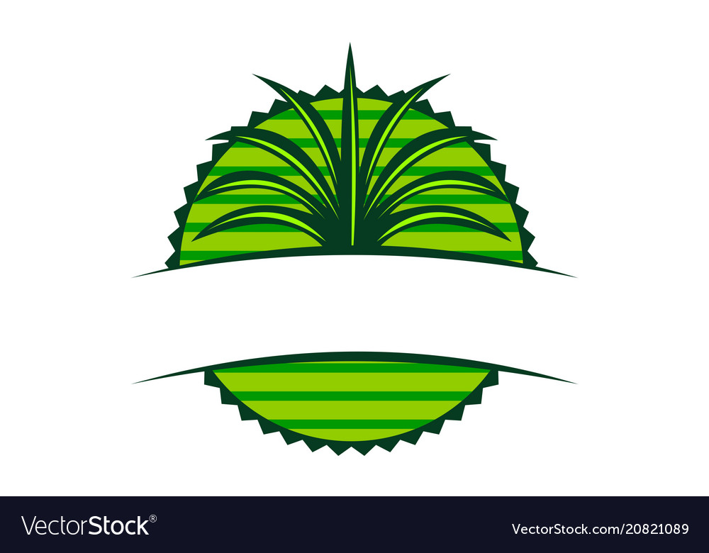Emblem Leaf Template Blank