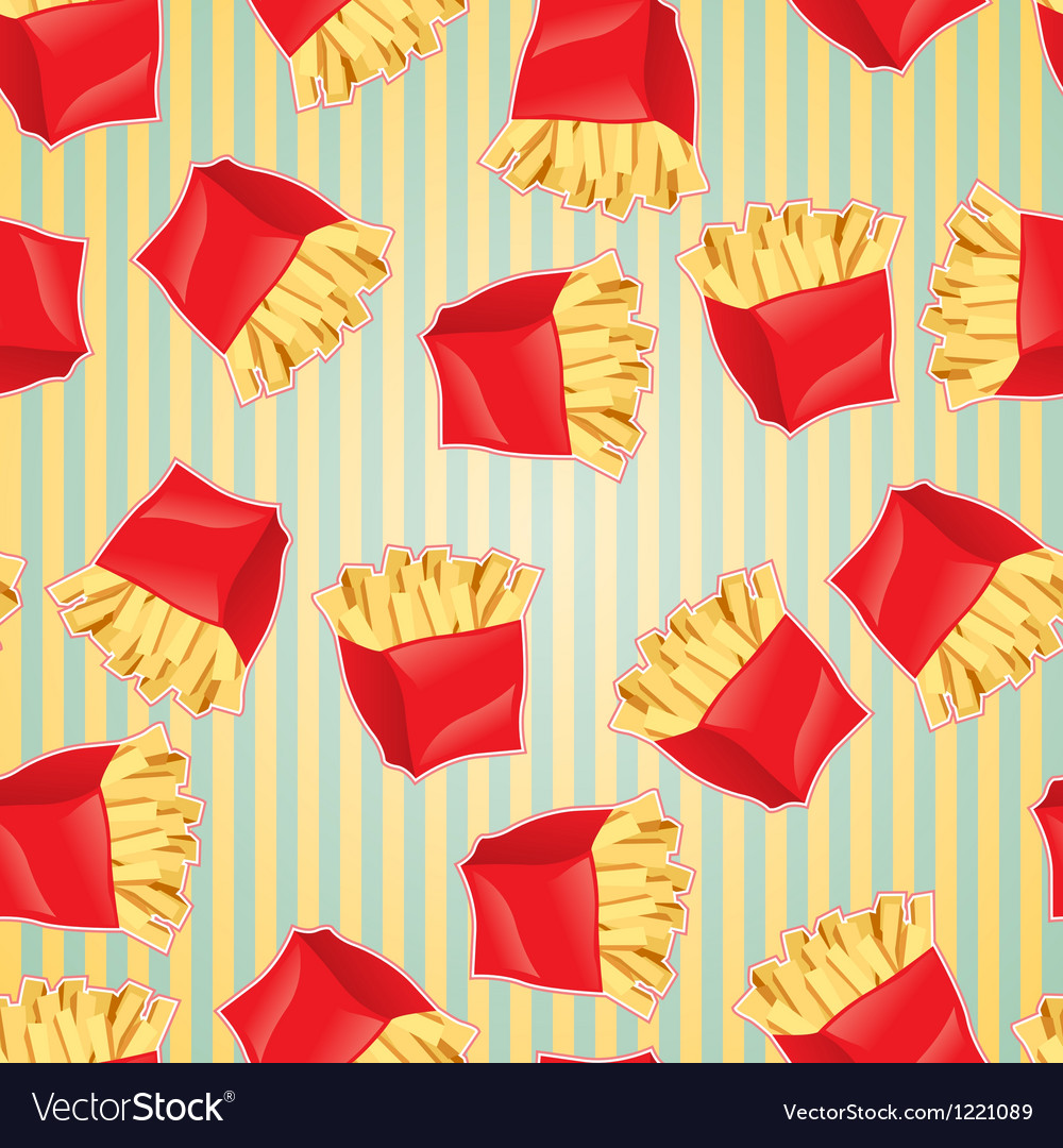 Fast food seamless pattern background vector image