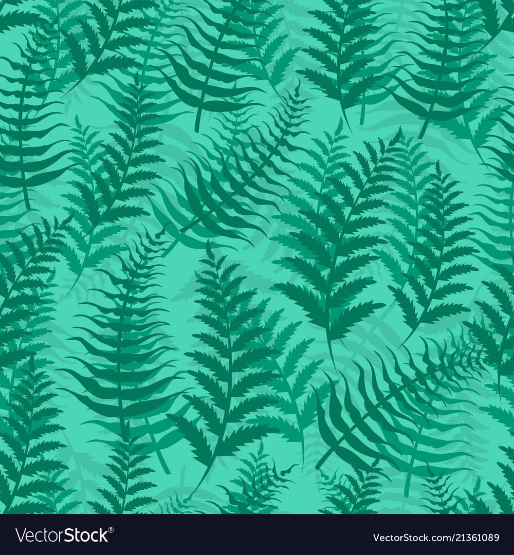 Fern seamless pattern exotic background nature