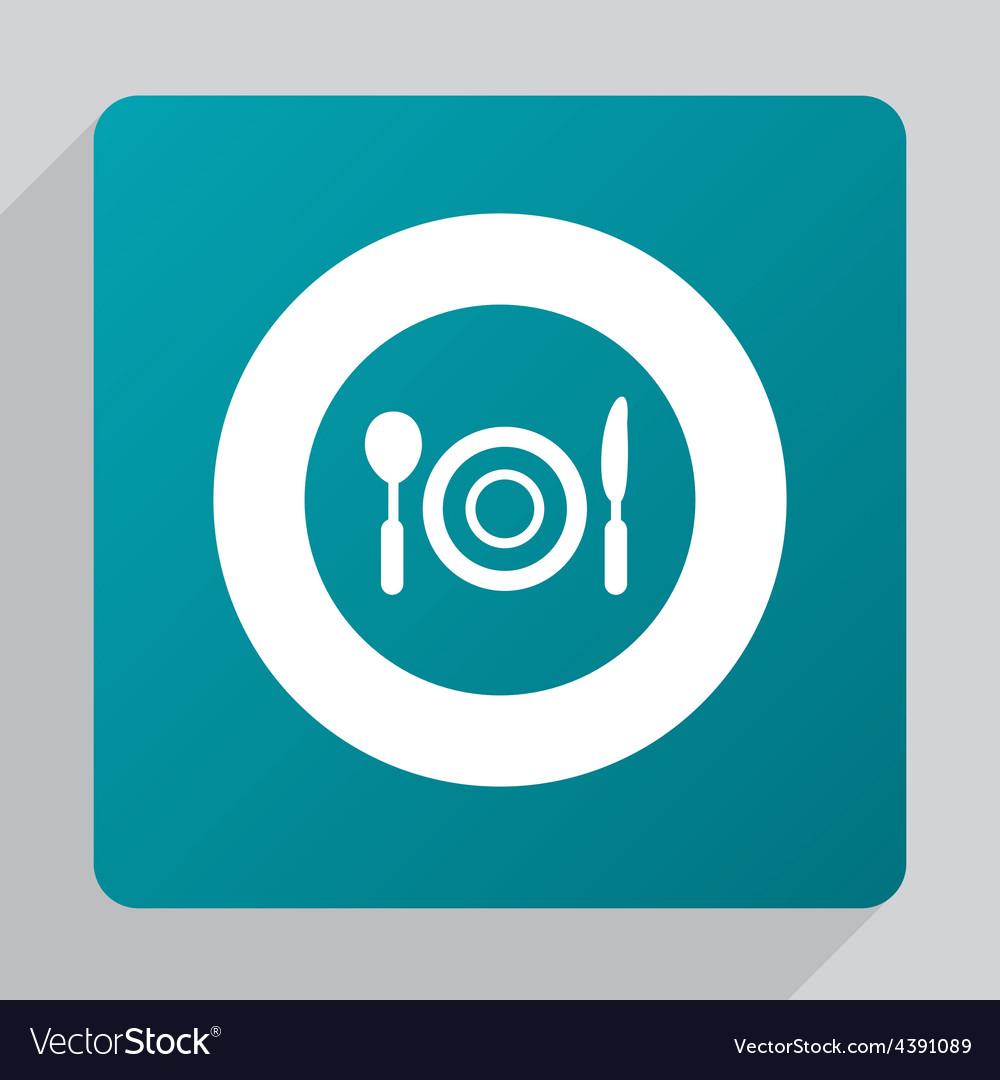 Flat restaurant icon vector image
