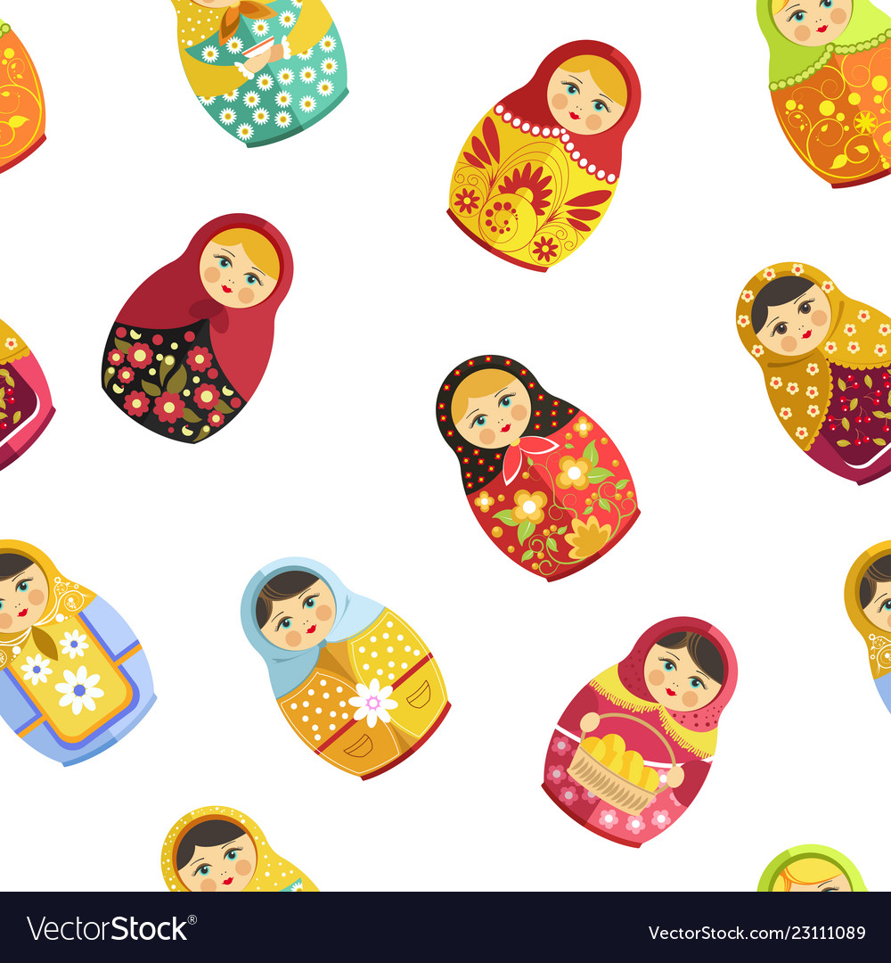 Russian nesting doll traditional wooden souvenir