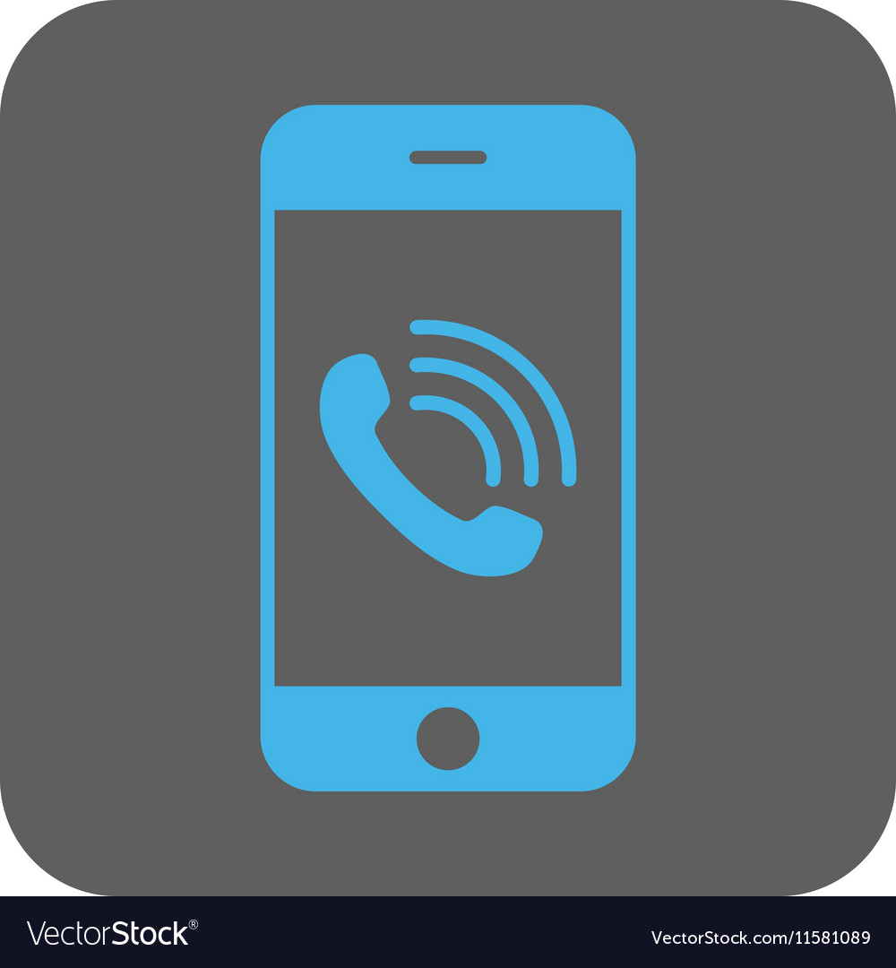 Smartphone Call Rounded Square Icon