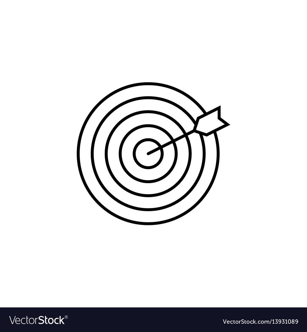 Target keyword line icon