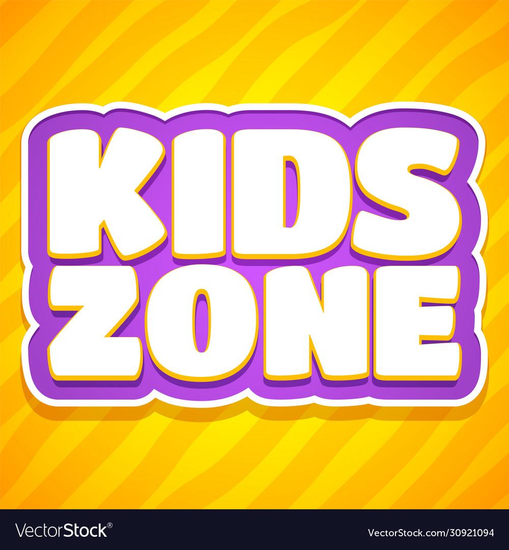 Children playroom decoration logo playing game