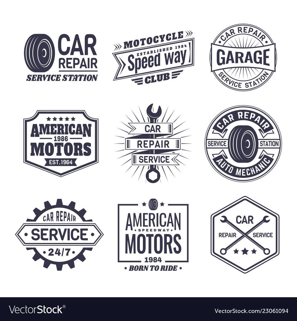 Logo for car repair service station maintenance