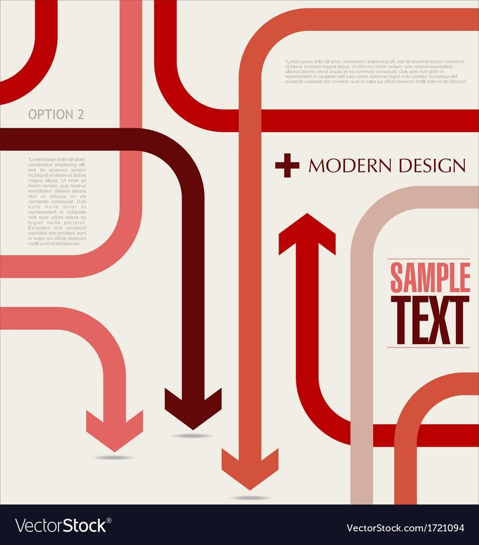 Modern arrow banner vector image