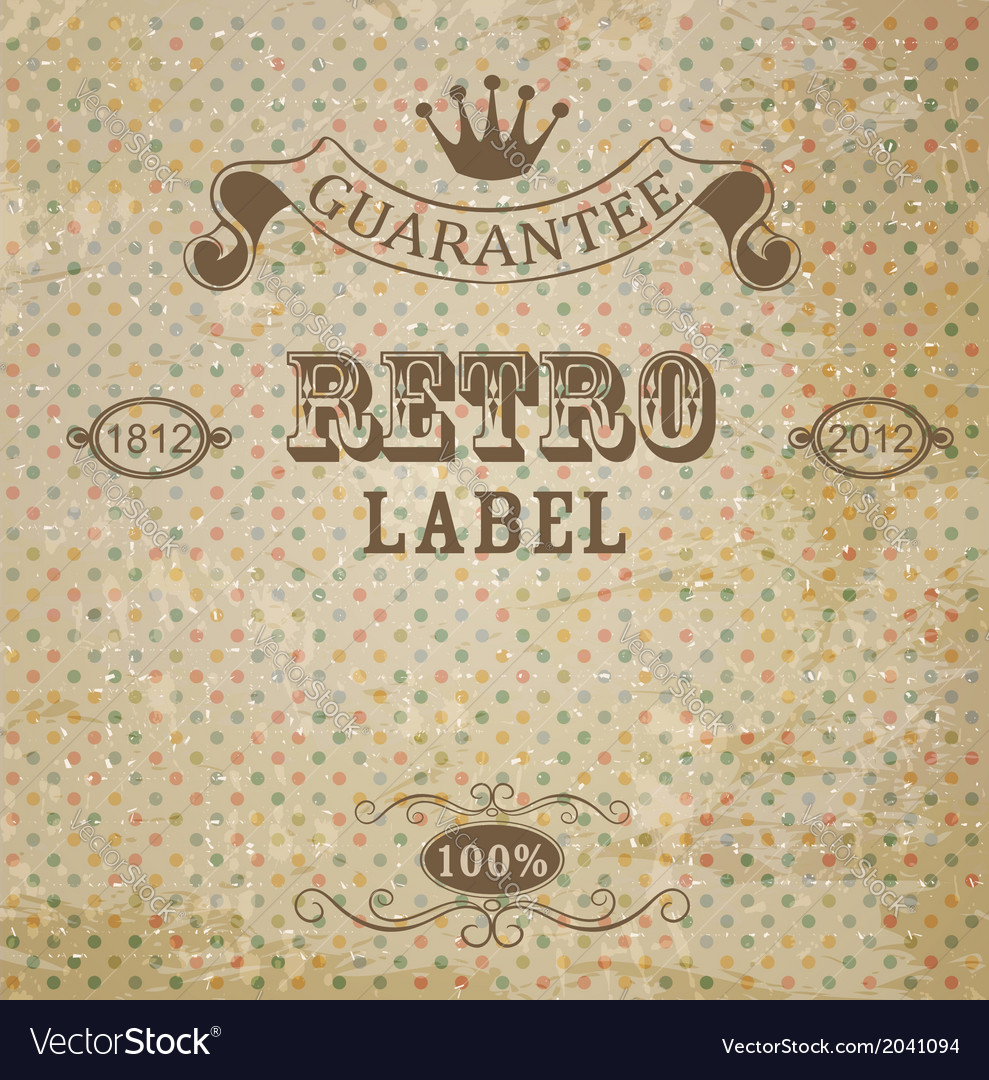 Retro background with vintage elements