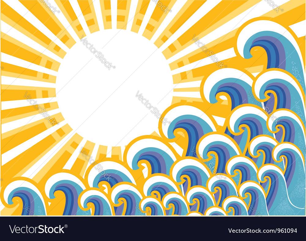 Seascape image color