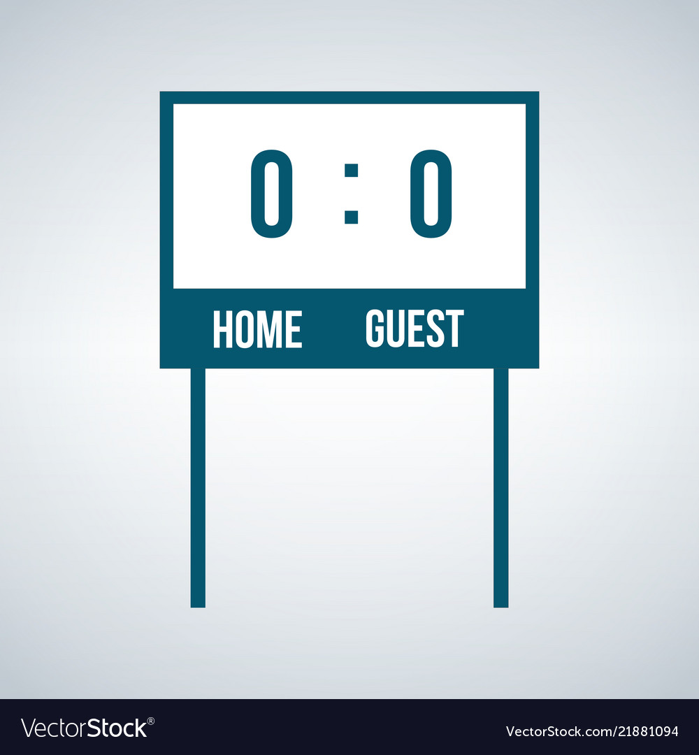 Simple home and guest scoreboard icon isolated on