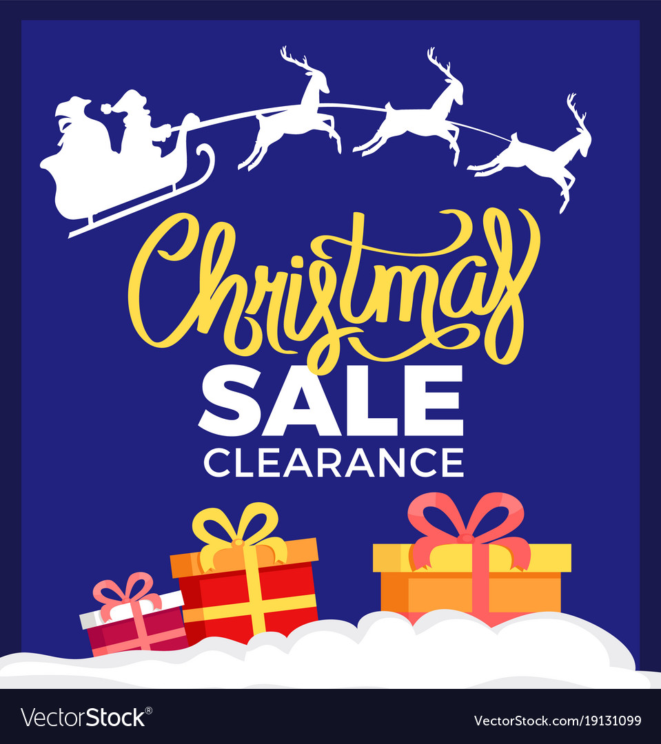 Christmas sale clearance card Royalty Free Vector Image