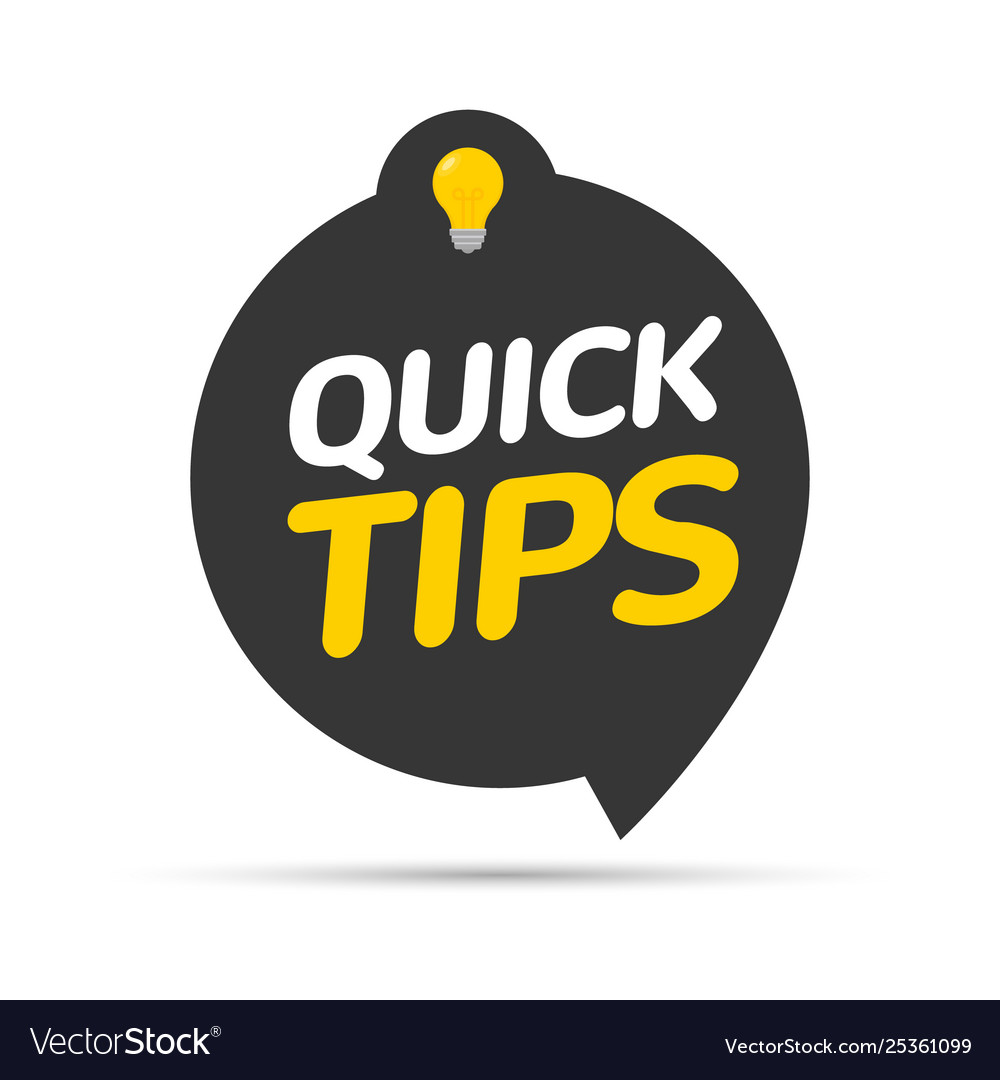 Quick tips icon badge top tips advice note icon
