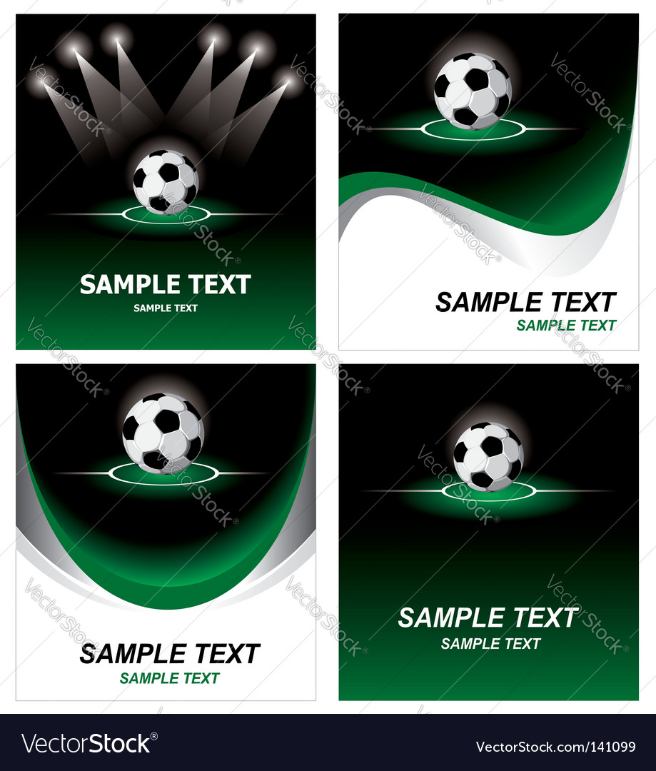 Set soccer background