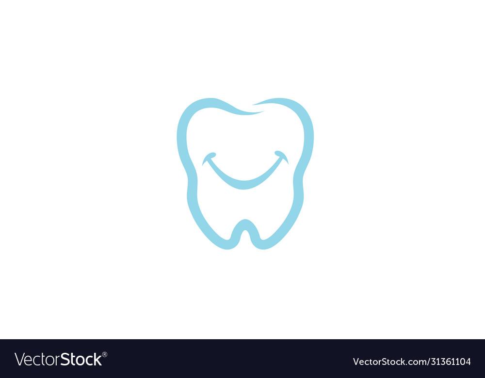 Creative dental teeth smile logo design symbol