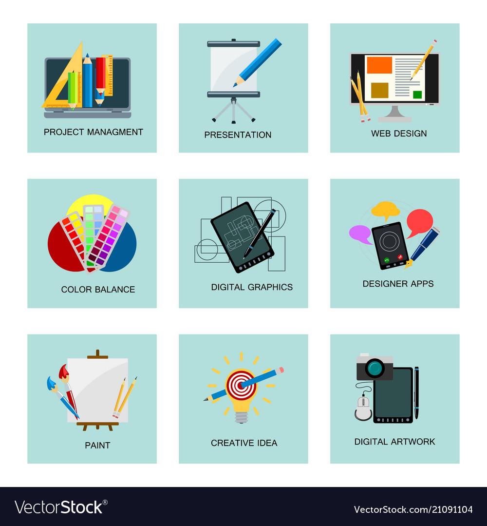 Creativity icons imagination