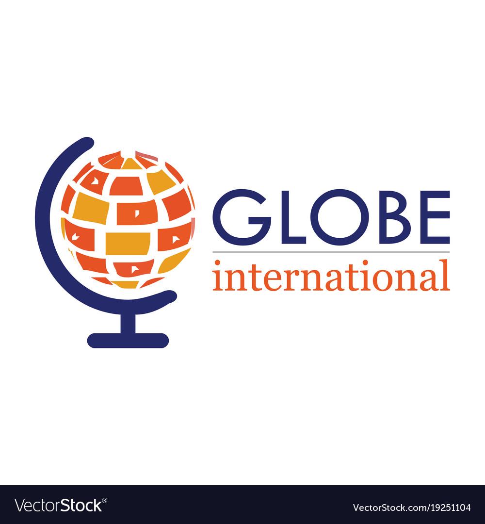Globe international logo vector image