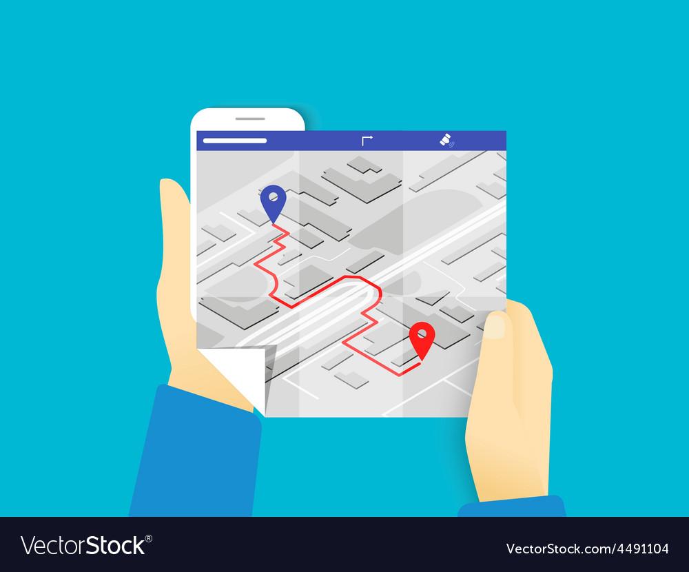 Mobile app for gps navigation