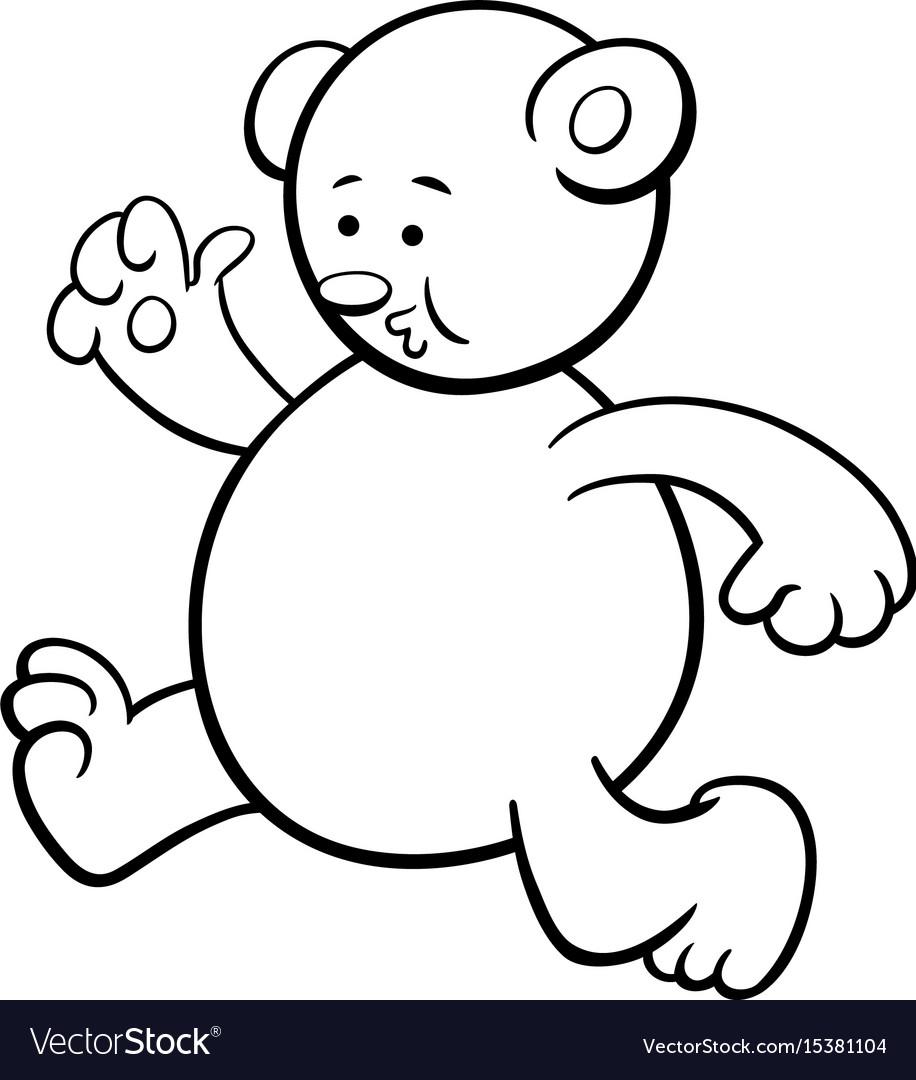 Teddy Bear Running Vector Images 31