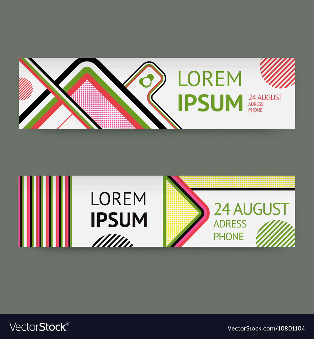 Set template banners with Geometric