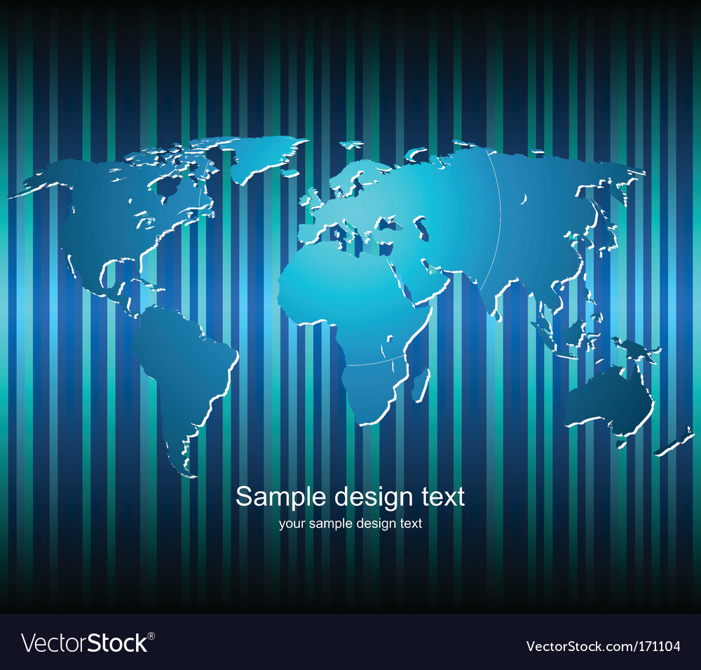 stock vector : graphic world map composition with radial gradients,