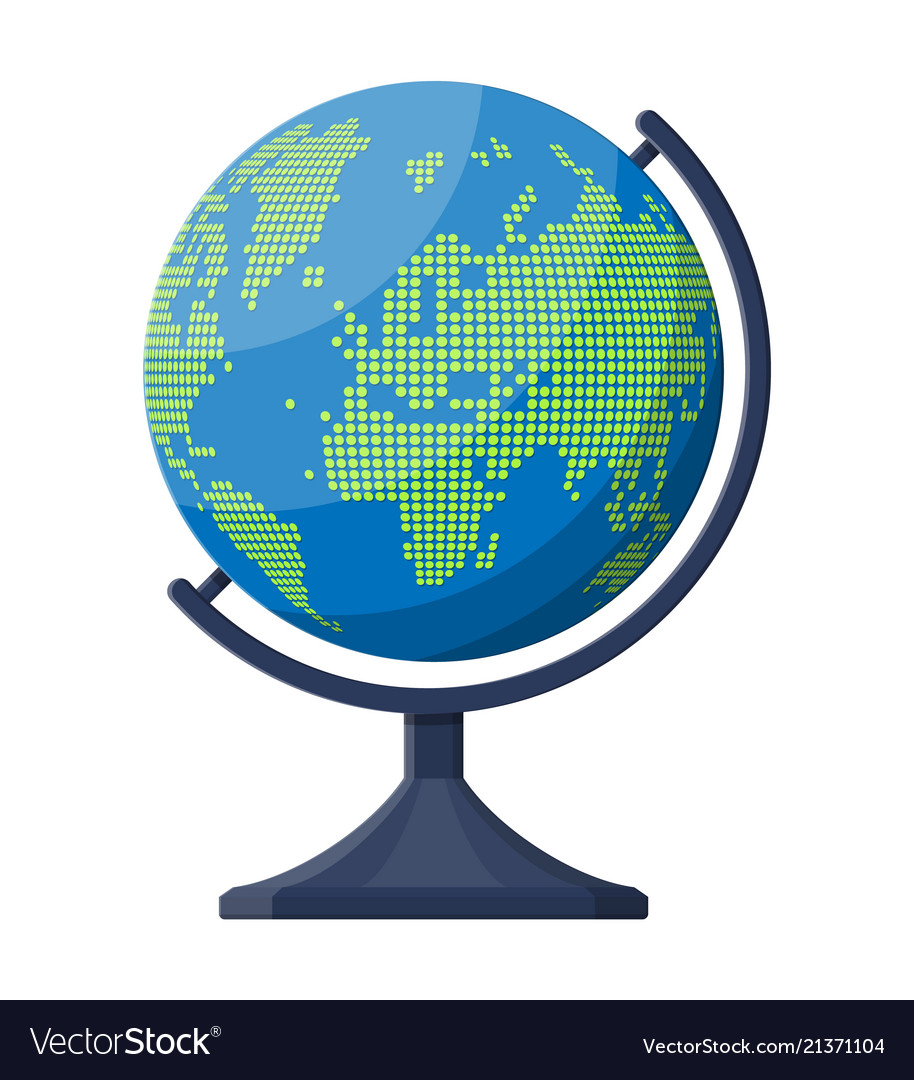 World map silhouette globe in dots