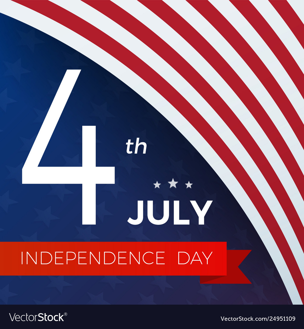 4th july with usa flag independence day banner